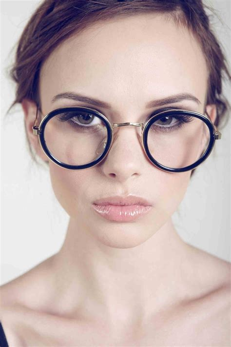 deadstock vintage clear fashion glasses with black rims