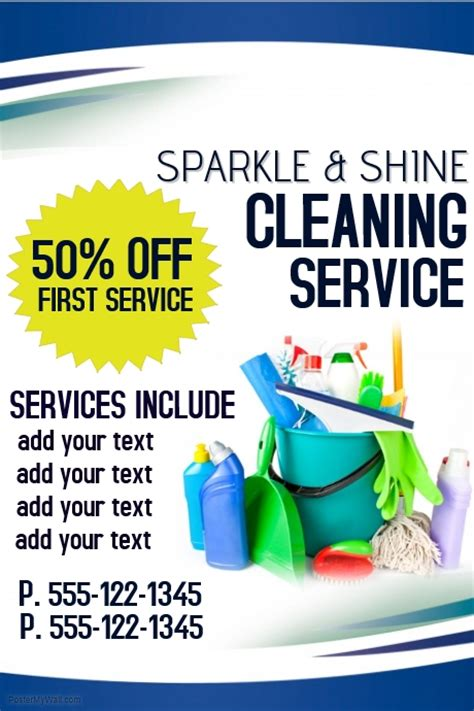 cleaning service brochure templates cleaning service template postermywall