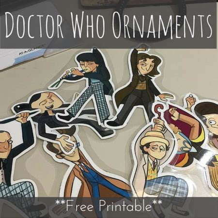 doctor who christmas diy doctor who ornaments free printable
