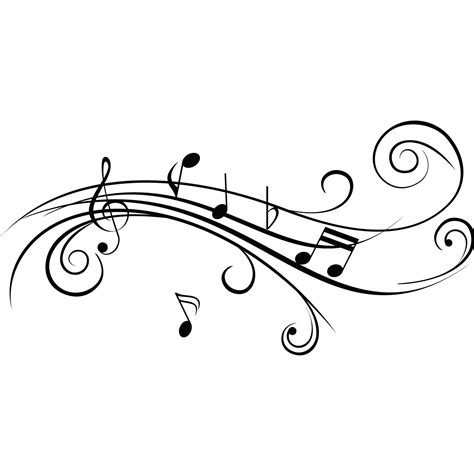 Cool Musical Notes v2 Wall Sticker   World of Wall Stickers