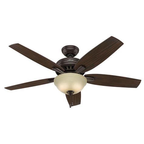 hunter 52 onyx bengal bronze ceiling fan hunter ambrose 52 in led indoor onyx bengal bronze three