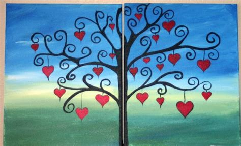 paint nite for couples couples paint couples tree of