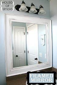 diy bathroom mirror frame with molding the happier homemaker mirror frame diy james did this with crown molding for