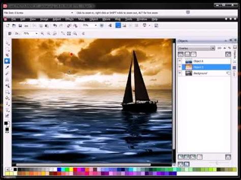 how to convert black white image to colour tutorial with corel photo paint x5
