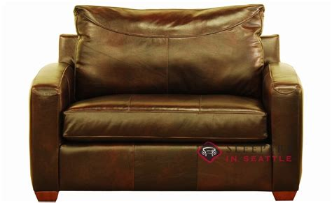 Leather Chair Bed Sleeper by Savvy Boulder Leather Sleeper Sofa Chair Sleepers In