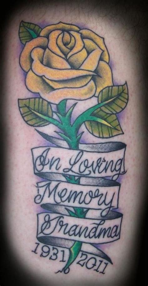 memorial rose tattoos 25 best ideas about yellow tattoos on