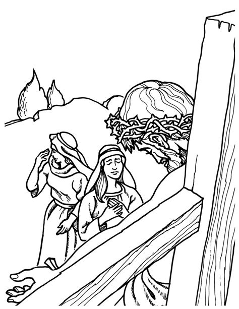 coloring pages of jesus carrying the cross jesus carrying cross coloring page coloring pages for free