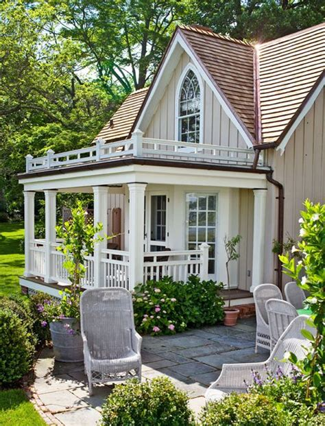 Small Quaint Home Beige And White Painted Cottage Amazing Houses And