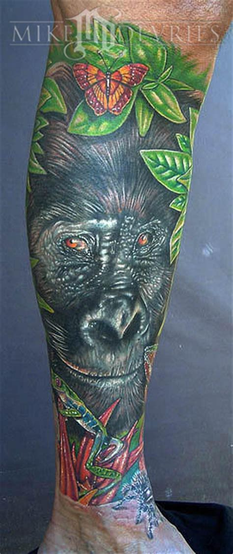 gorilla tattoos mike devries tattoos animal gorilla