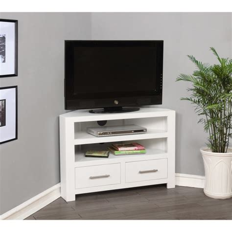 Vanity Units Wall Hung Windsor Painted White Solid Wood Corner Tv Unit Furniture123