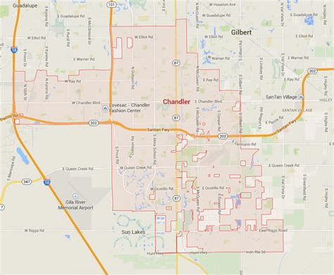 chandler arizona united states map chandler arizona map