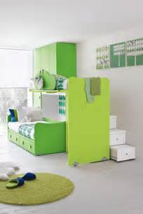 Green kids bedroom furniture ideas