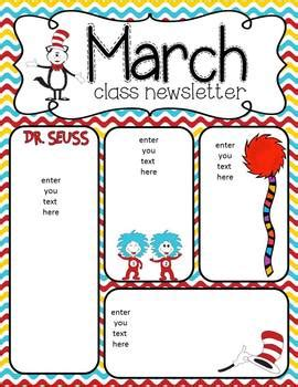 newsletters for march for your classroom i hope you