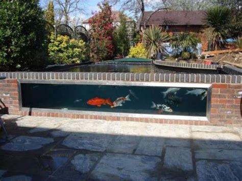 Backyard Fish Pond Maintenance Semi Formal Fibreglass Pond With Window Koi Water Garden