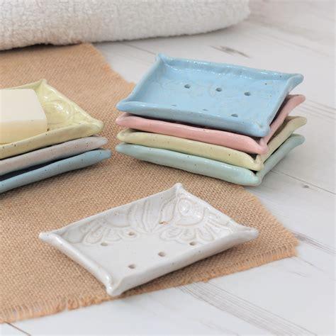 Vintage Handmade Clay Kalung Unik Gift handmade ceramic soap dish vintage lace pastels bathroom