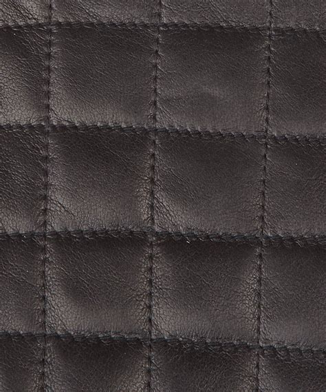 Quilting Leather by Agnelle Black Square Quilt Leather Gloves In Black For