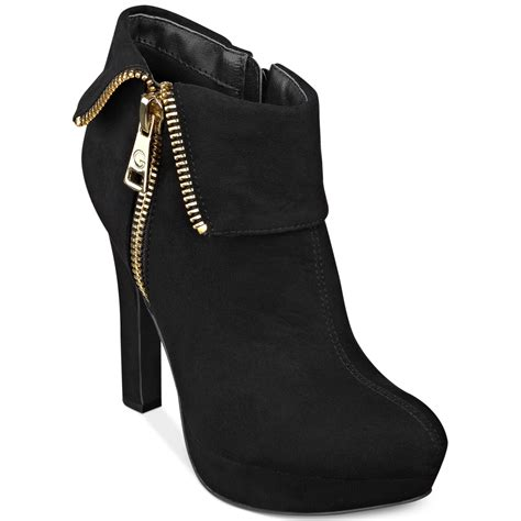 shooties boots g by guess rocket foldover platform shooties in black lyst
