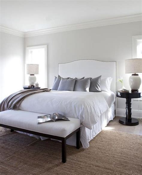 silver and white bedroom bedrooms silver gray paint white camelback headboard
