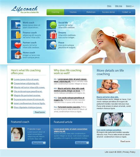 website templates for life coaches life coach website template web design templates