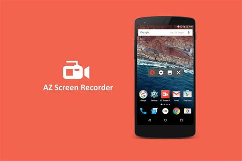 android freeware az screen recorder no root app android free