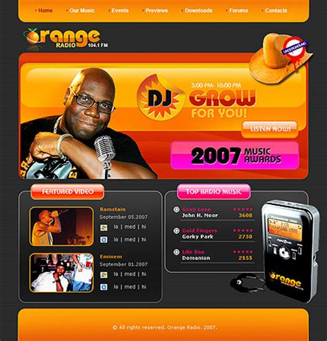 radio templates 10 most popular radio templates tonytemplates