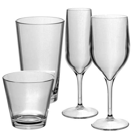 polycarbonate barware premium polycarbonate glasses set 24 glasses tao range