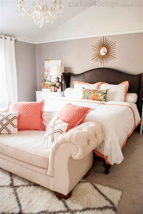 gold and coral bedroom copper coral and blush bedroom update cuckoo4design