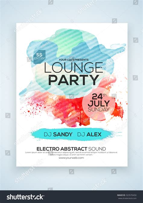 1 page flyer template creative stylish one page flyer banner stock vector