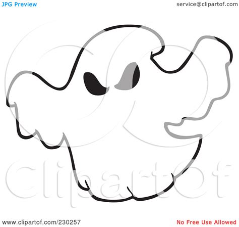 ghost outline coloring page ghostbusters clipart ghost outline pencil and in color