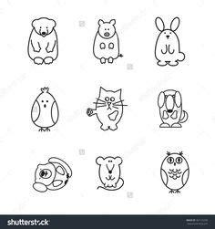 hey doodle doodle rhyme set of pets cat bunny guinea pig fish