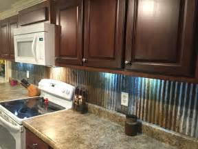rustic backsplash from reclaimed tin roofing my work