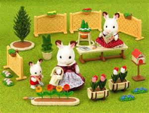 sylvanian families calico critters family garden set se - Sylvanian Families Garden