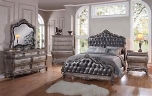 silver bedroom set chantelle 6 bedroom set in antique silver finish by