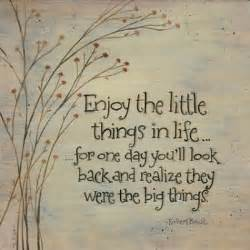 Cute picture quote about appreciating the little things in life