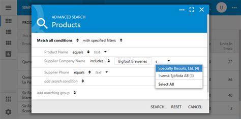 ui pattern advanced search code on time touch ui