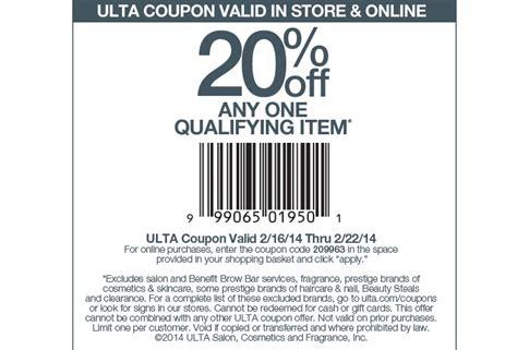 ulta printable discount coupons ulta beauty 20 of item printable coupon