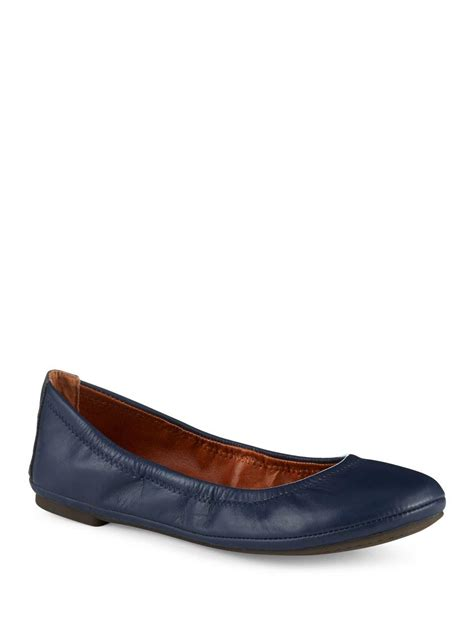 lucky brand shoes emmie flats lucky brand emmie ballet flats in blue save 5 lyst