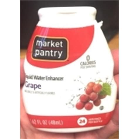 Market Pantry Water by Market Pantry Liquid Water Enhancer Grape Calories