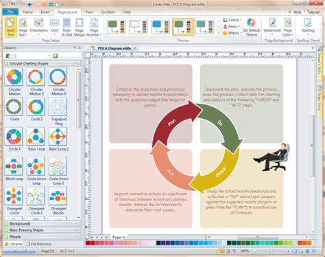 word diagram maker pdca software excellent pdca cycle diagram maker