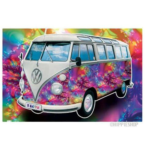 volkswagen bus art american hippie tie dye vw bus art art hippie