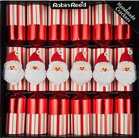 robin reed 6pc jolly santa christmas crackers