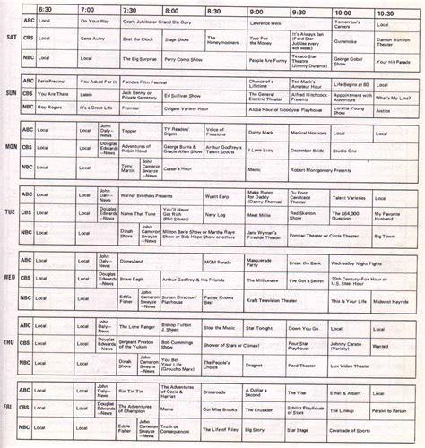 printable tv schedule uk tvg 1955 56 season programs nyc jpg