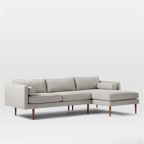 west elm monroe sofa review monroe mid century 2 piece chaise sectional west elm