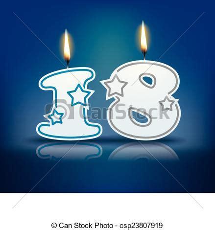 imagenes de cumpleaños numero 18 vector clip art de vela cumplea 241 os n 250 mero 18