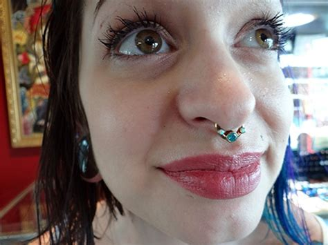 captive bead ring septum the beautiful pucci wearing custom made septum