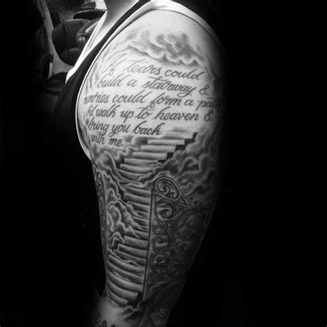 half sleeve religious tattoos for men 50 heaven tattoos for higher place design ideas