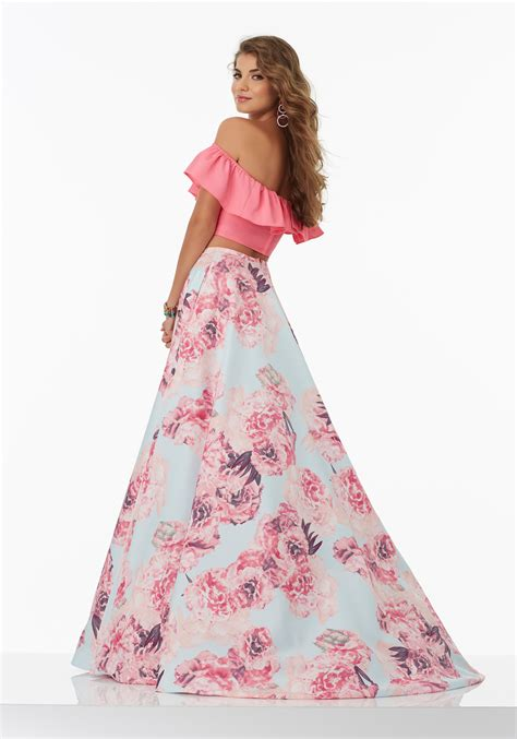 Floral Dress Santai Pink prom dresses by morilee designed by madeline gardner and flirty two prom dress with