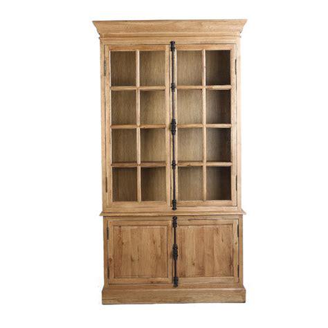 industrial loft oak bookcase with doors temple webster