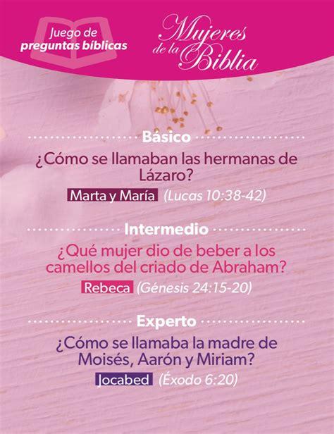 preguntas biblicas y respuestas para mujeres mujeres de la biblia juego de preguntas b 237 blicas