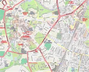 Cambridge England Map by Walks Round Cambridge